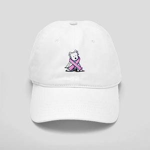 Pink Ribbon Westie Cap