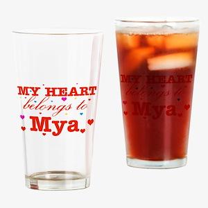 I love Mya Drinking Glass