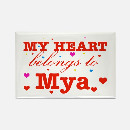 I love Mya Rectangle Magnet