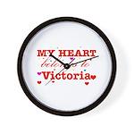 I love Victoria Wall Clock