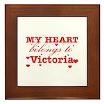 I love Victoria Framed Tile
