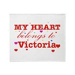 I love Victoria Throw Blanket