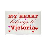 I love Victoria Rectangle Magnet (100 pack)