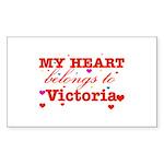 I love Victoria Sticker (Rectangle 50 pk)
