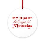 I love Victoria Ornament (Round)