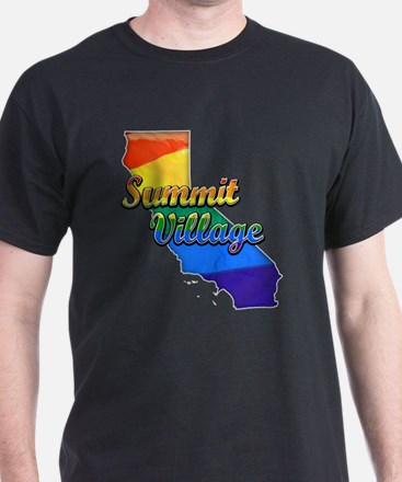 Summit Village, California. Gay Pride T-Shirt