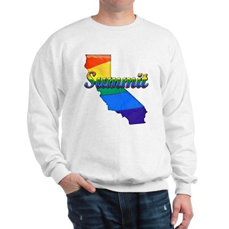 Summit, California. Gay Pride Sweatshirt