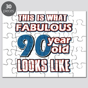 Cool 90 year old birthday designs Puzzle