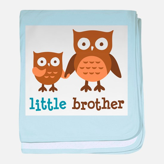 Little Brother - Mod Owl baby blanket