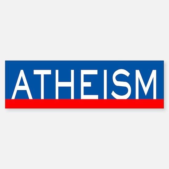Atheism RW+B Sticker (Bumper)