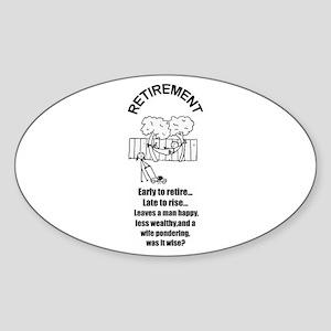 PONDERING RETIREMENT Oval Sticker