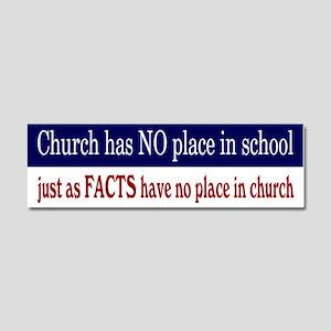 No Facts in Church RW+B Car Magnet 10 x 3