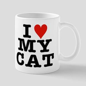 I Heart My Cat (White) Mug