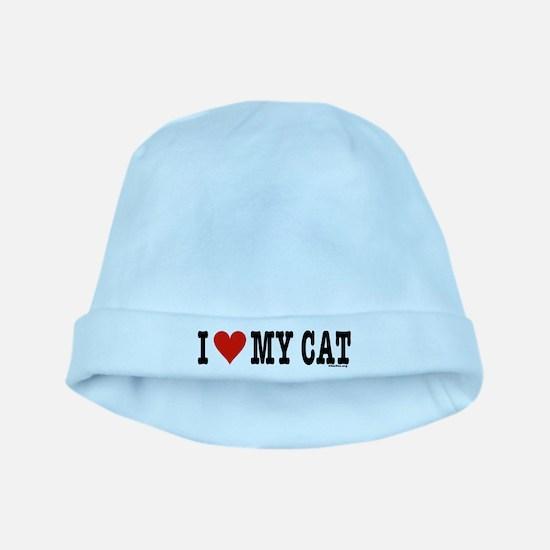 I Heart My Cat (White) baby hat