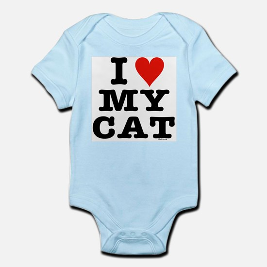 I Heart My Cat (White) Infant Bodysuit