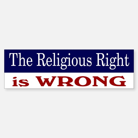 Right is Wrong Sticker (Bumper)