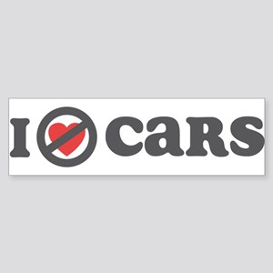 Don't Heart Cars Sticker (Bumper)
