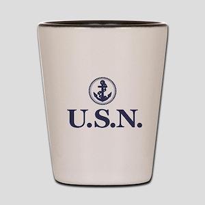 USN Shot Glass