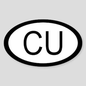Cuban Car Sticker / Decal (Oval)