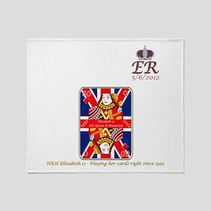 Queen of diamonds Jubilee 2012 Throw Blanket