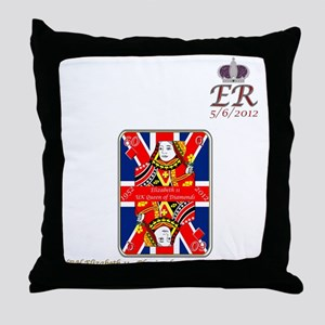 Queen of diamonds Jubilee 2012 Throw Pillow
