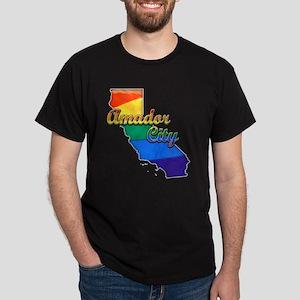 Amador City, California. Gay Pride Dark T-Shirt
