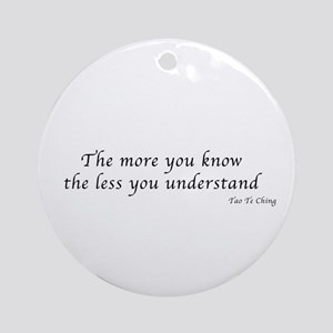 The more you know Ornament (Round)