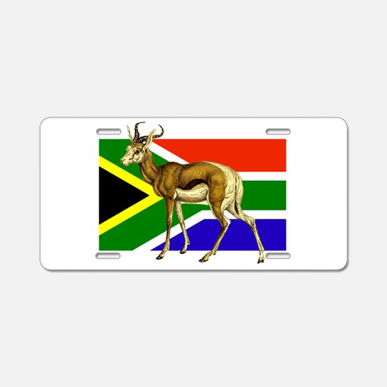 South Africa Springbok Flag Aluminum License Plate