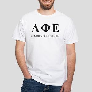 Lambda Phi Epsilon Letters White T-Shirt