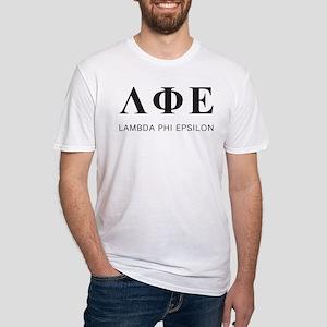 Lambda Phi Epsilon Letters Fitted T-Shirt