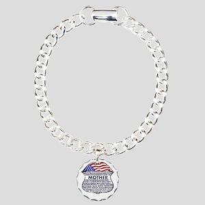 Patriotic Mother Police Badge Bracelet