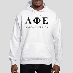 Lambda Phi Epsilon Letters Hooded Sweatshirt