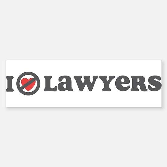 Don't Heart Lawyers Sticker (Bumper)