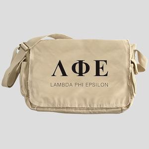 Lambda Phi Epsilon Letters Messenger Bag