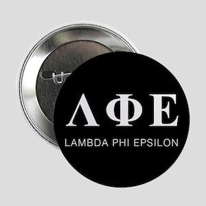 """Lambda Phi Epsilon Letters 2.25"""" Button"""