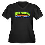 Sister Fidelma Women's Plus Size V-Neck Dark T-Shi