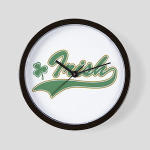 Irish Sports Logo Wall Clock