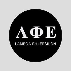 Lambda Phi Epsilon Letters Button