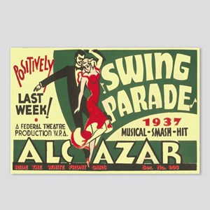 Swing Parade 1937 WPA Poster Postcards (Package of