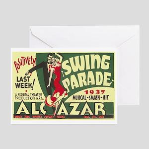 Swing Parade 1937 WPA Poster Greeting Card
