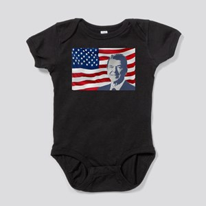 Reagan and Flag Body Suit