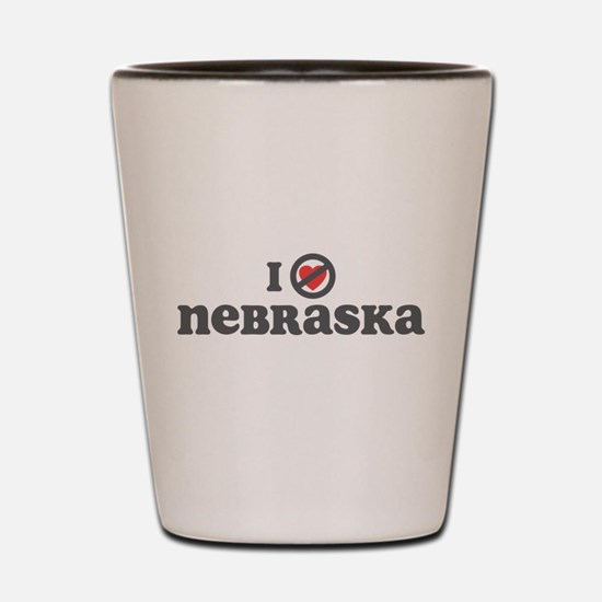 Don't Heart Nebraska Shot Glass