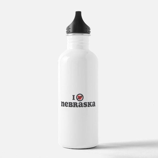 Don't Heart Nebraska Water Bottle