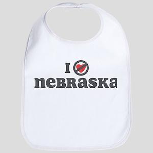 Don't Heart Nebraska Bib