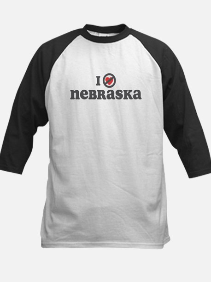 Don't Heart Nebraska Kids Baseball Jersey
