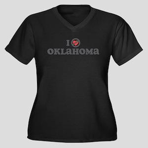 Don't Heart Oklahoma Women's Plus Size V-Neck Dark