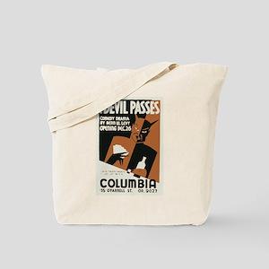 The Devil Passes Tote Bag