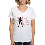 I sweat Glitter Women's V-Neck T-Shirt