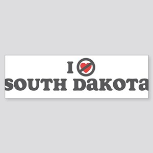 Don't Heart South Dakota Sticker (Bumper)