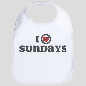 Don't Heart Sundays Bib